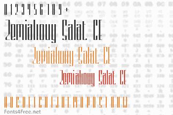 Zemiakovy Salat CE Font