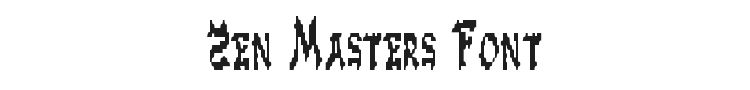 Zen Masters Font Preview