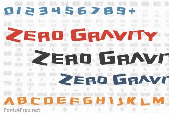 Zero Gravity Font