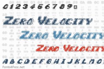 Zero Velocity Font