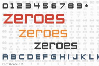 Zeroes Font