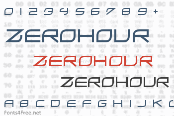 ZeroHour Font