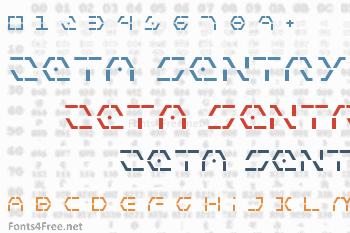 Zeta Sentry Font