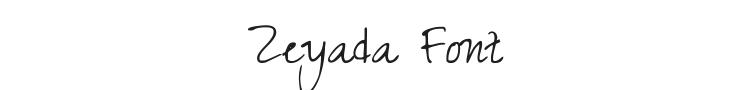 Zeyada Font Preview