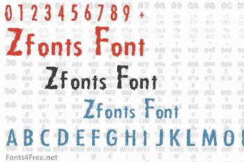 Zfonts Font