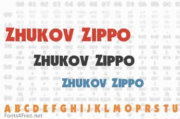 Zhukov Zippo Font