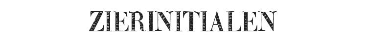 Zierinitialen Font Preview