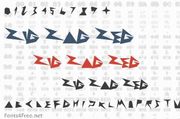 Zig Zag Zeg Font