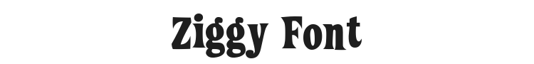 Ziggy Font Preview