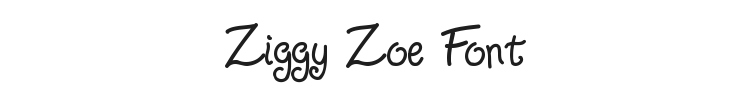 Ziggy Zoe Font Preview