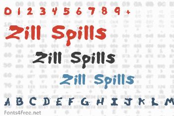 Zill Spills Font