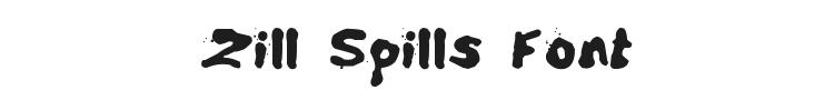 Zill Spills Font Preview