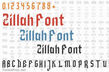 Zillah Font
