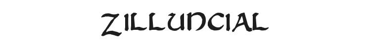 Zilluncial Font Preview