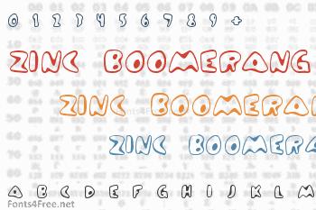 Zinc Boomerang Font