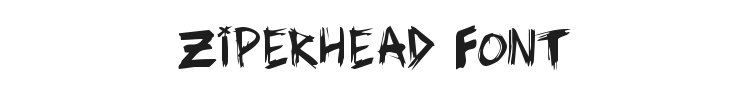 Ziperhead Font Preview