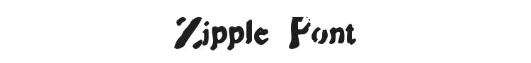 Zipple Font Preview