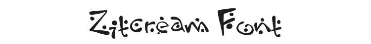 Zitcream Font Preview