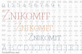 Znikomit Font