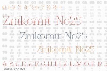 Znikomit No25 Font