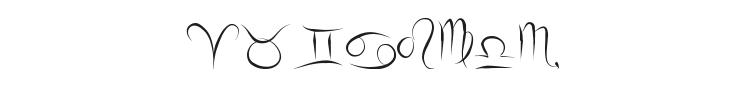 Zodiac Hellron Font Preview