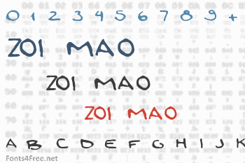 Zoi Mao Font