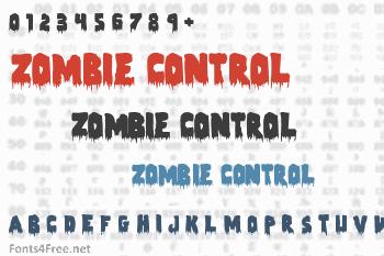 Zombie Control Font