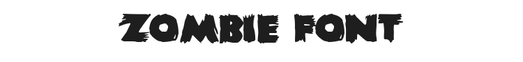 Zombie Font Preview