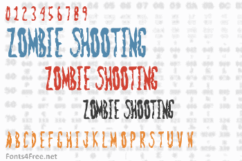 Zombie Shooting Font