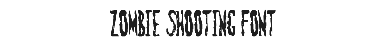 Zombie Shooting Font Preview