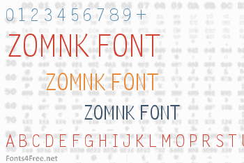 Zomnk Font