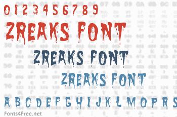 Zreaks Font
