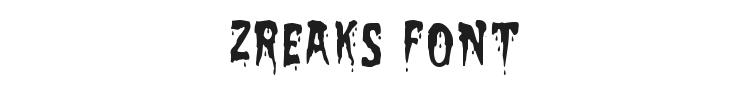 Zreaks Font Preview