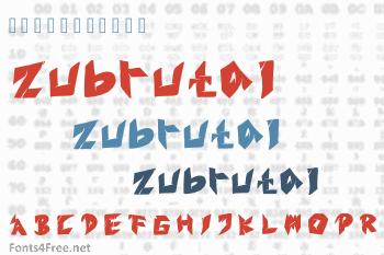 Zubrutal Font