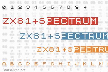 ZX81+Spectrum Font