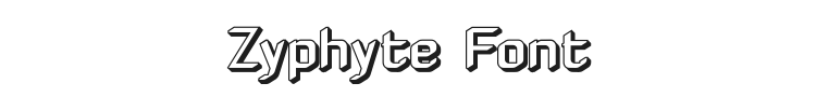 Zyphyte Font Preview