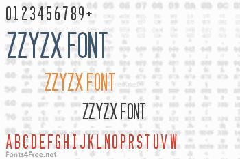 Zzyzx Font