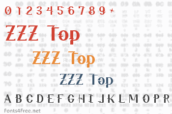 ZZZ Top Font